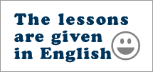 the lessons are given in Eonlish or Japanese